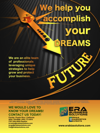 ERA Business Solutions services presentation post card.
