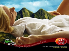 """I passed by Cayey [city] and it reminded me of you.""  The pictured mountain range is commonly known as the  ""Tits of Cayey."""